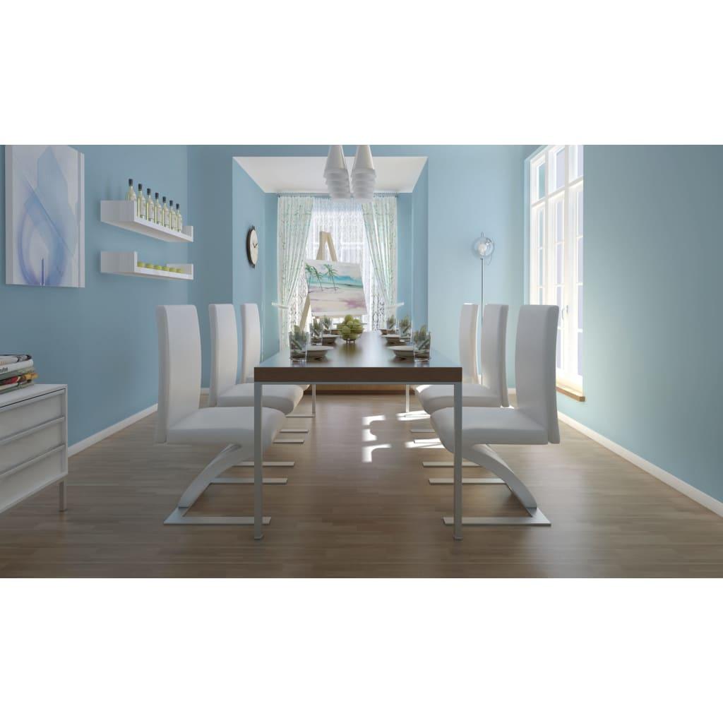 acheter lot de 6 chaises blanche pas cher. Black Bedroom Furniture Sets. Home Design Ideas