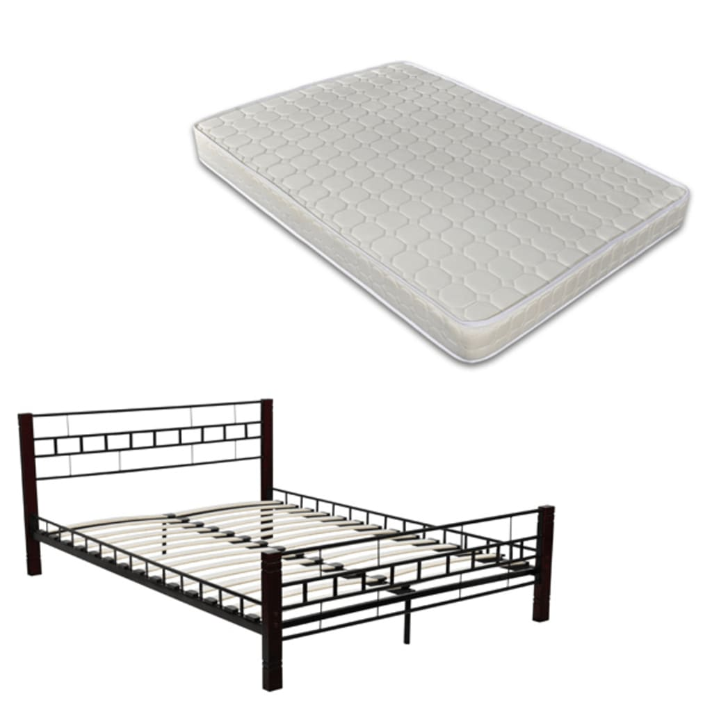 la boutique en ligne lit en m tal avec matelas 140 x 200 cm 60687 240011. Black Bedroom Furniture Sets. Home Design Ideas