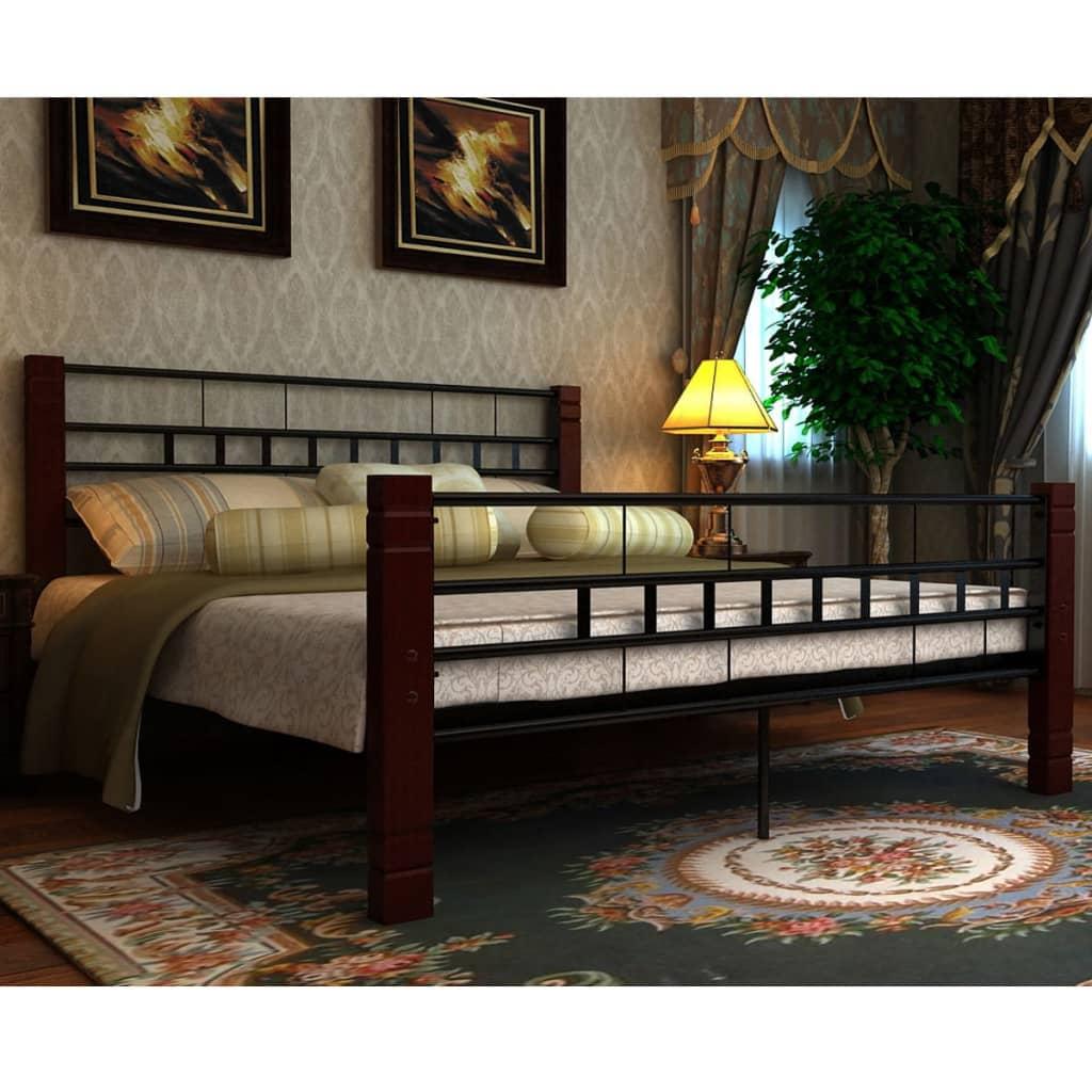 Bett-Metallbett-mit-ohne-Matratze-Bettgestell-Doppelbett-Lattenrost ...