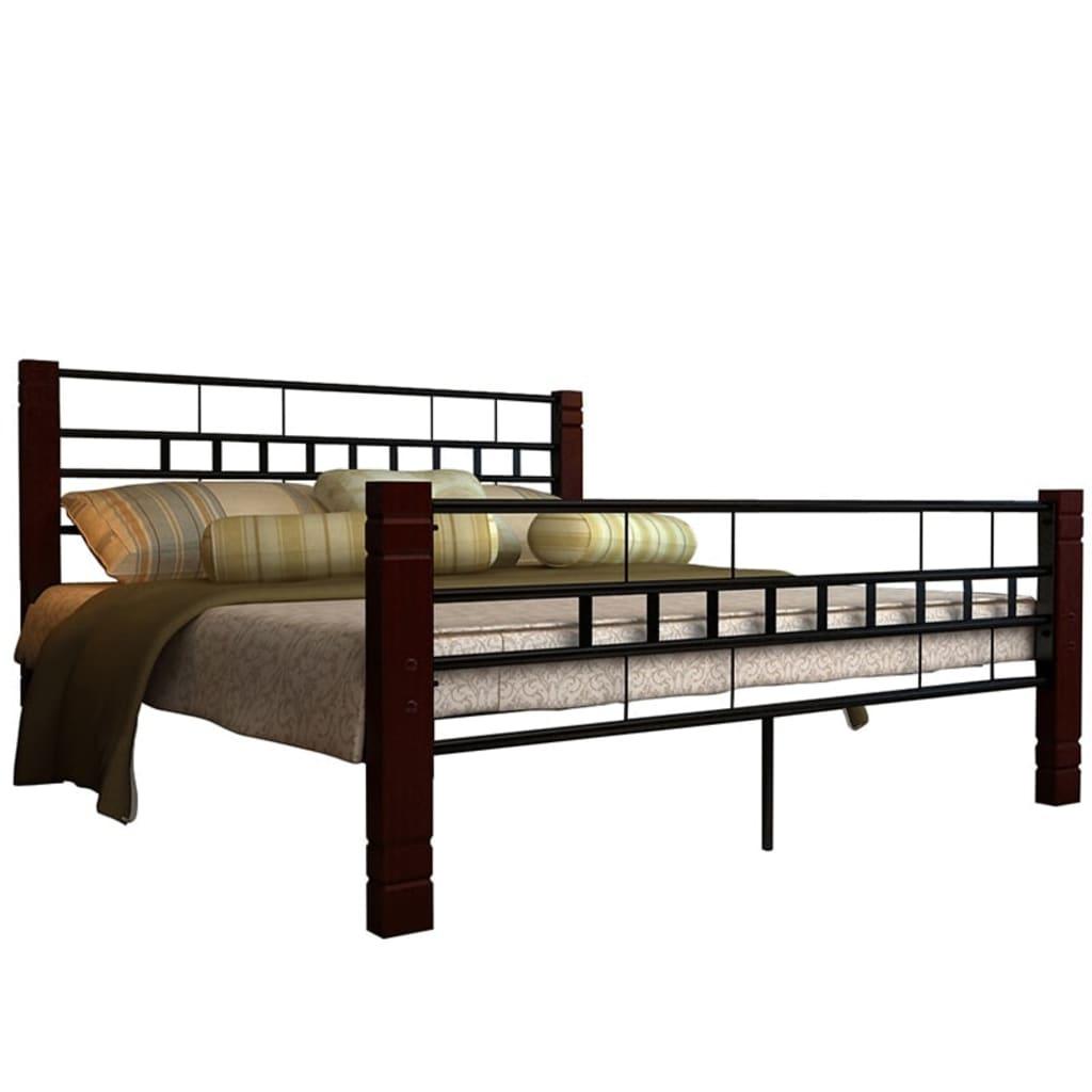 Acheter lit adulte 2 personnes 180 x 200 cadre m tal avec - Acheter matelas pas cher ...