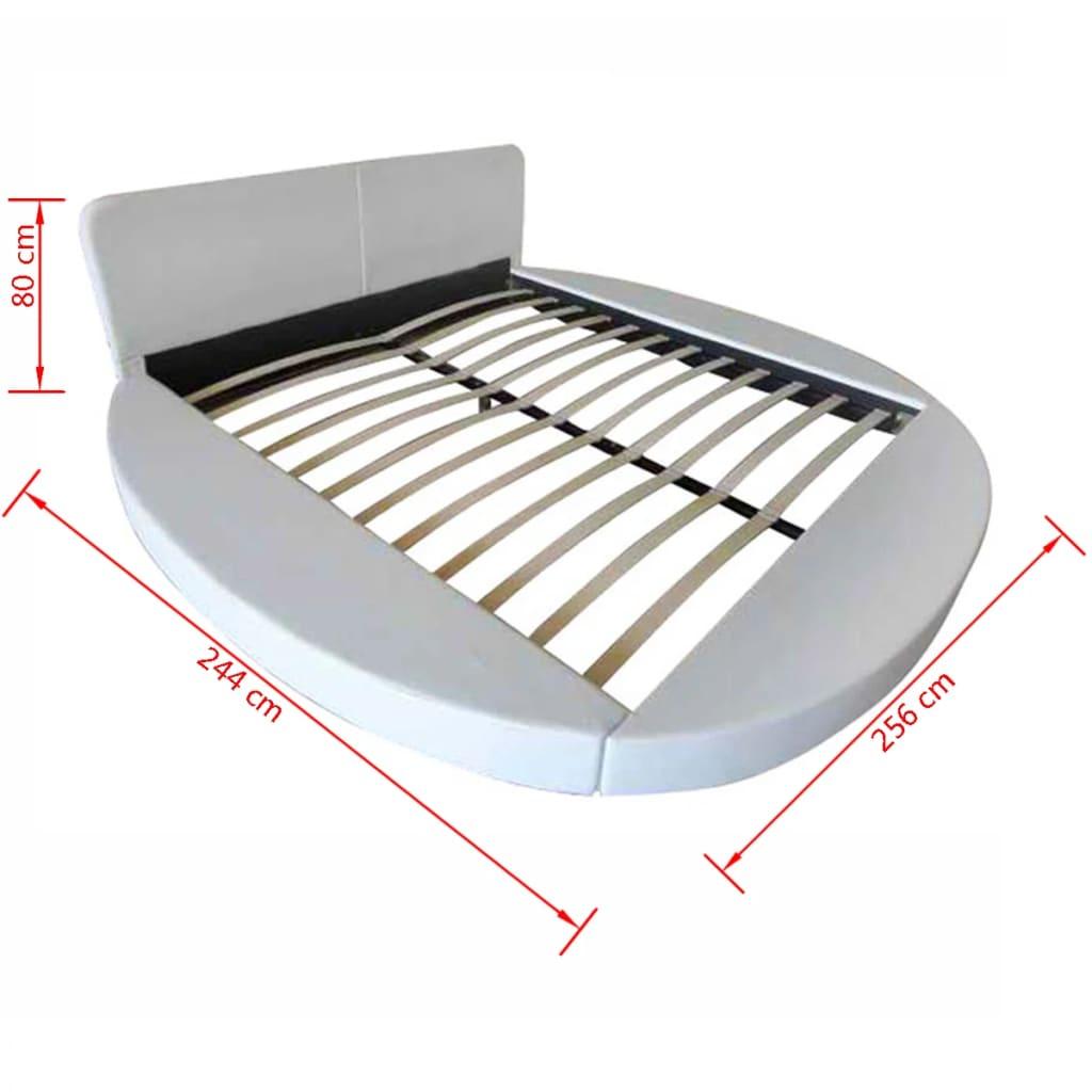 kunstleder bett 180 x 200 cm mit matratze wei g nstig kaufen. Black Bedroom Furniture Sets. Home Design Ideas
