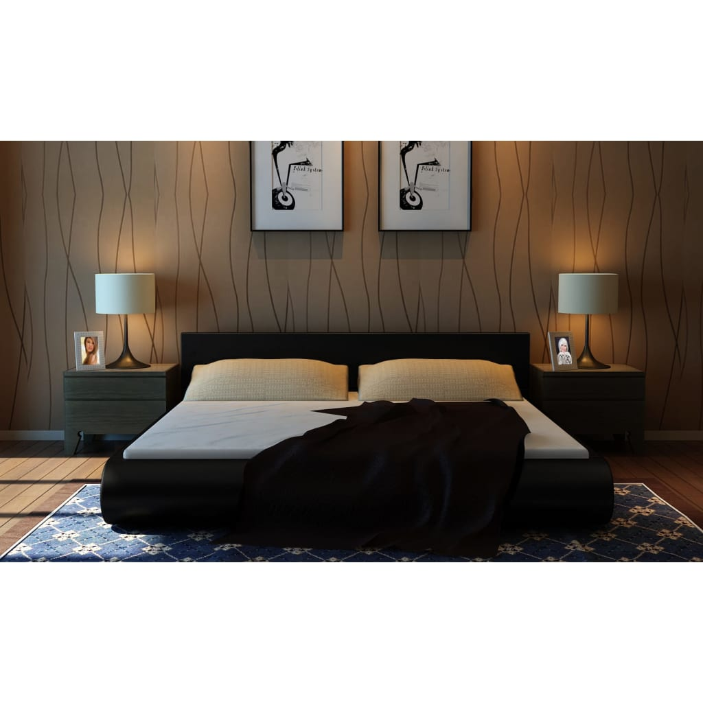 polsterbett 140x200cm kunstleder mit matratze g nstig kaufen. Black Bedroom Furniture Sets. Home Design Ideas