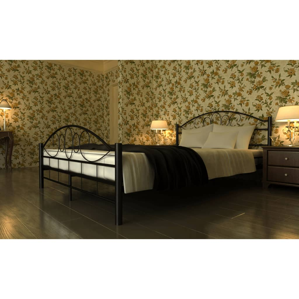 acheter lit en m tal matelas 180 x 200 pas cher. Black Bedroom Furniture Sets. Home Design Ideas