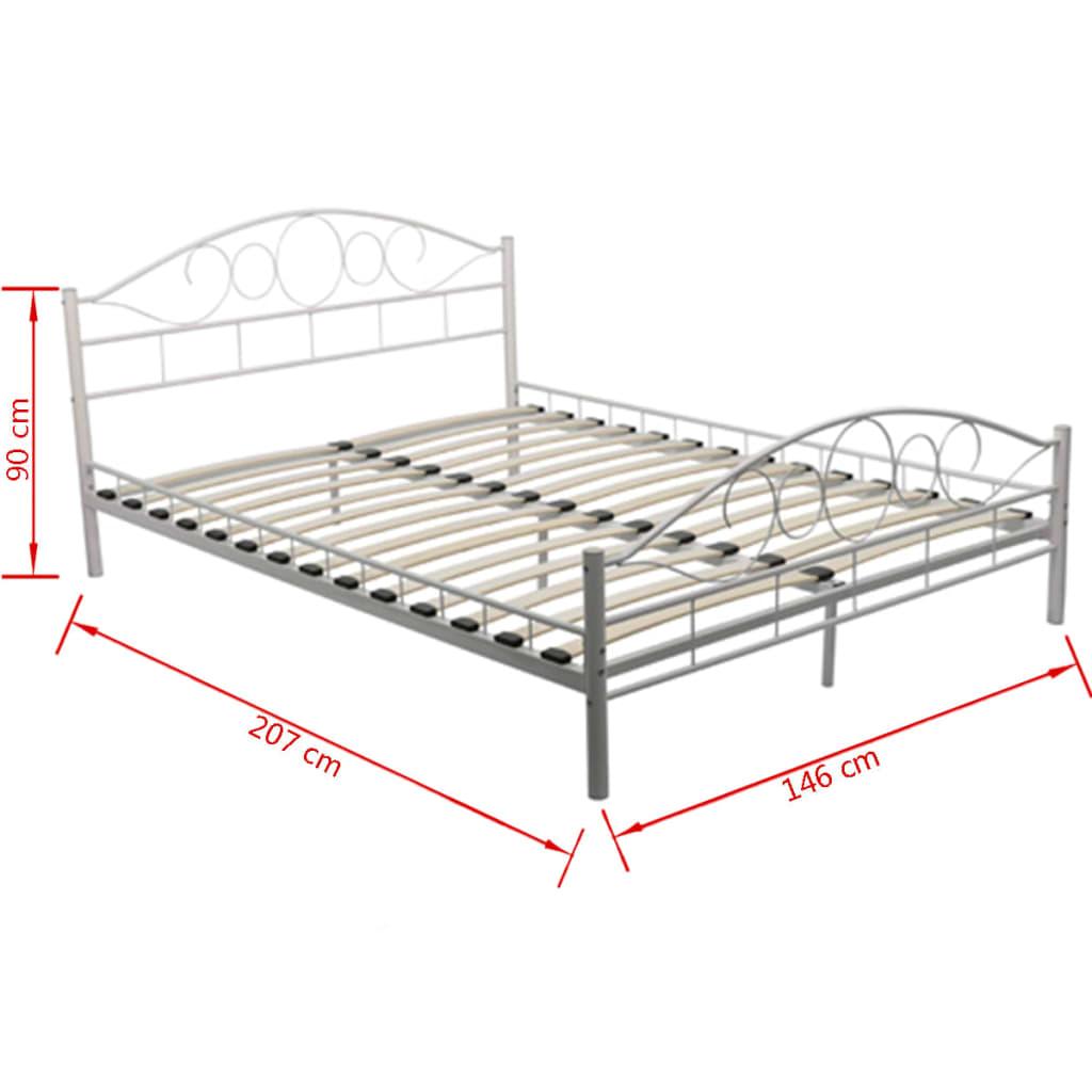 metallbett mit matratze 140 cm x 200 cm creme g nstig kaufen. Black Bedroom Furniture Sets. Home Design Ideas