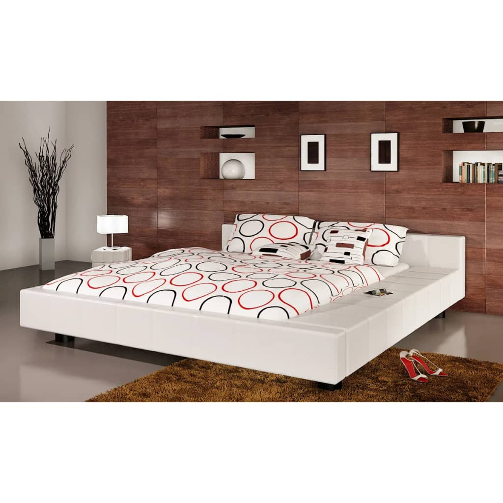 la boutique en ligne lit en cuir avec matelas 180 x 200 cm 240060 240013. Black Bedroom Furniture Sets. Home Design Ideas