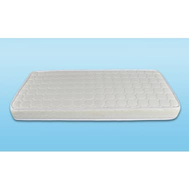 Lederen bed 180 x 200 cm zwart en wit inc matras - Wit lederen bed ...