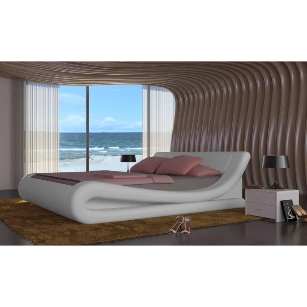 kunstleder bett mit matratze 180 x 200 cm g nstig kaufen. Black Bedroom Furniture Sets. Home Design Ideas