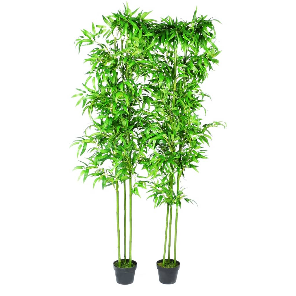 Bamboo artificial plants home decor set of 6 240017x for Artificial trees for home decoration