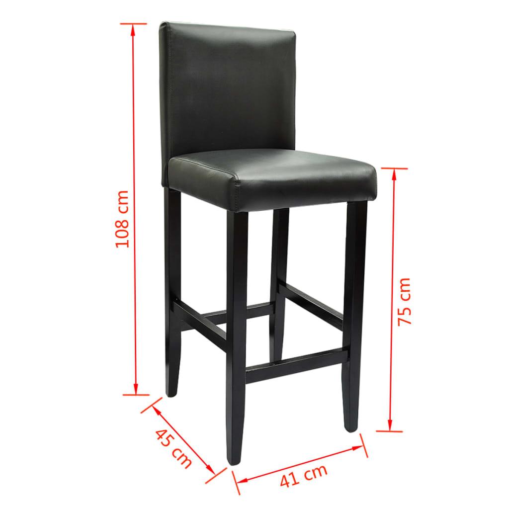 acheter lot de 6 tabourets de bar cuir artificiel noir pas cher. Black Bedroom Furniture Sets. Home Design Ideas
