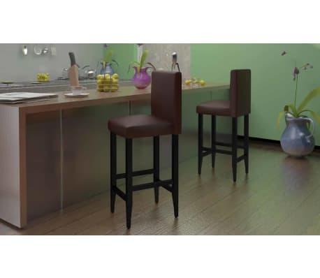 Der 4x design barhocker bar stuhl hocker mit kunstleder for Bar mit hocker