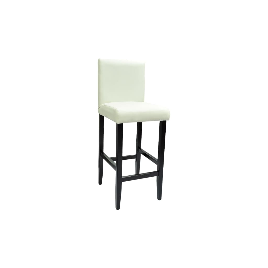 acheter lot de 4 tabourets de bar cuir artificiel blanc. Black Bedroom Furniture Sets. Home Design Ideas