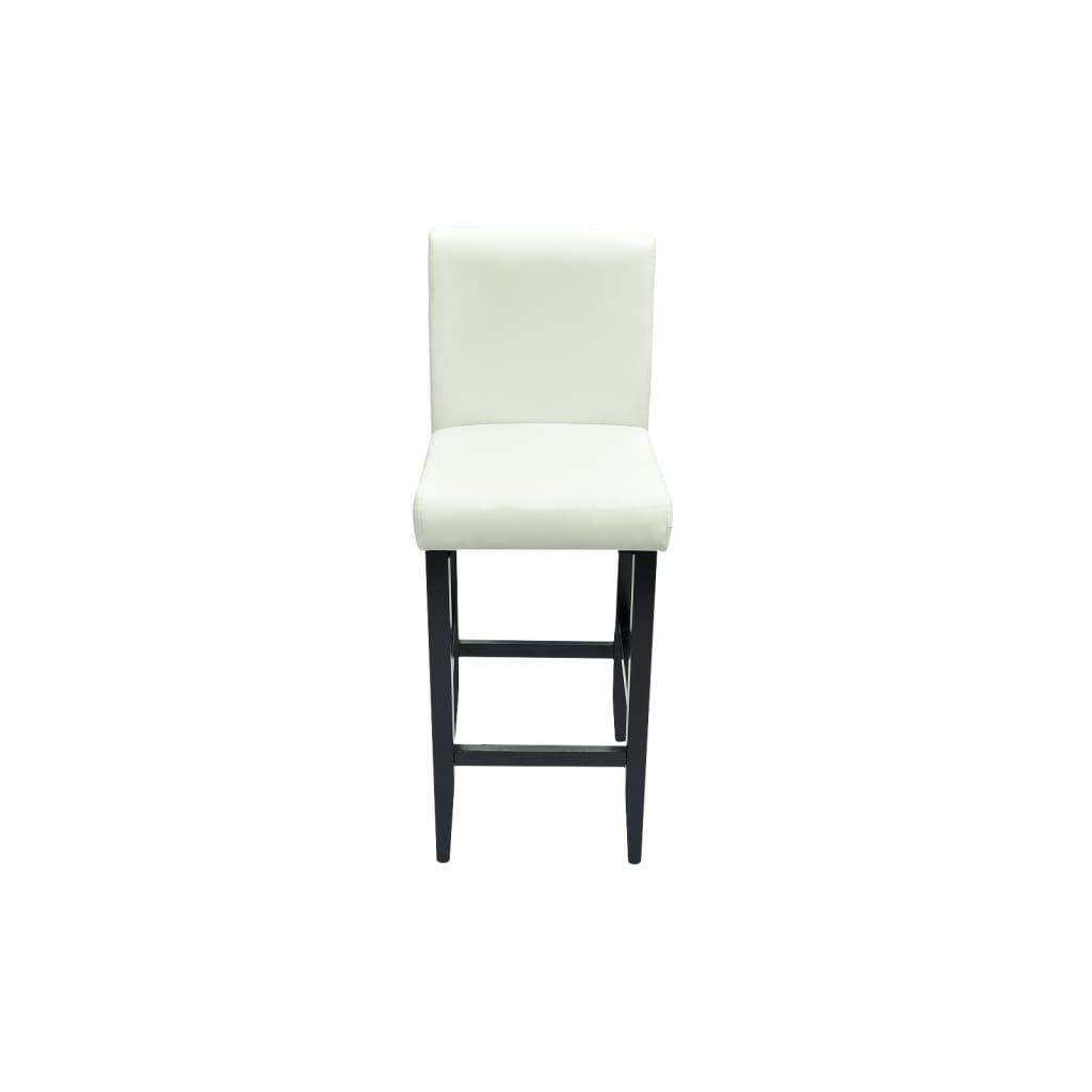 Der 6x design barhocker bar stuhl hocker mit kunstleder for Stuhl weiss kunstleder