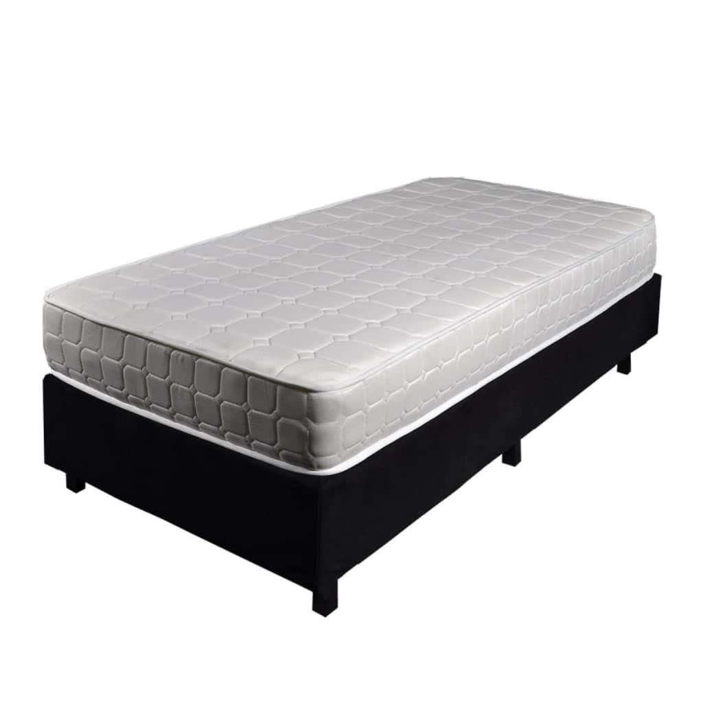 bettstatt bett 90x200cm mit taschenfederkern matratze. Black Bedroom Furniture Sets. Home Design Ideas