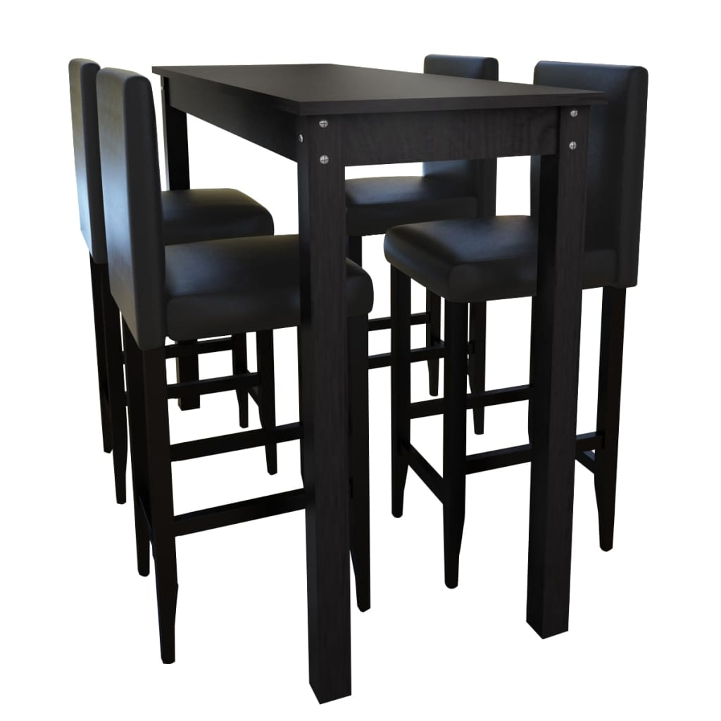 La boutique en ligne set de 1 table bar et 4 tabourets - Amazon table de bar ...