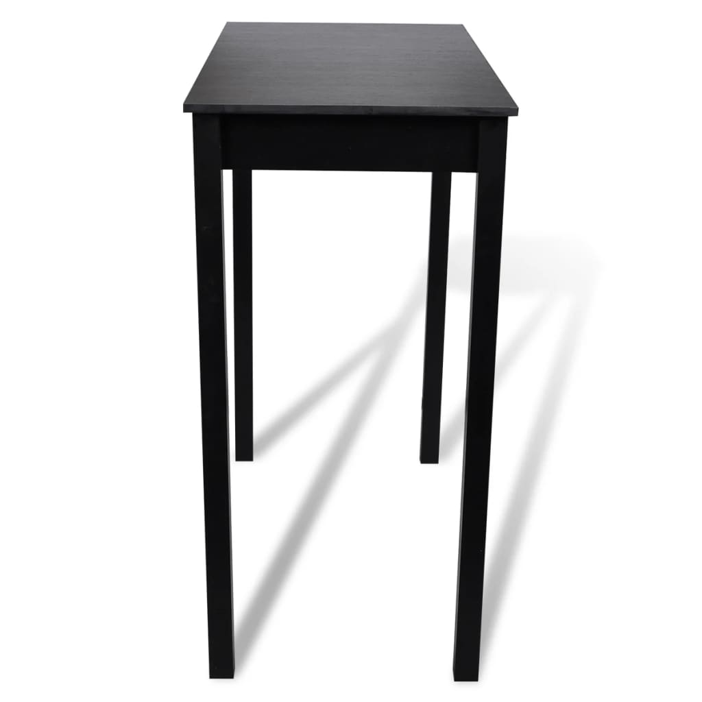 La boutique en ligne set de 1 table bar et 2 tabourets noir - Table bar 2 tabourets ...