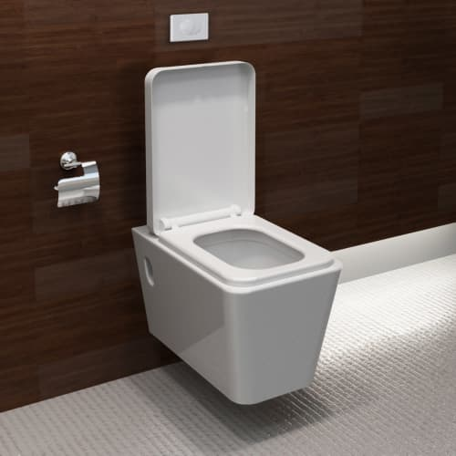 design wand h nge wc toilette wand h nge quadratisch mit ohne sp lkasten 290496 ebay. Black Bedroom Furniture Sets. Home Design Ideas