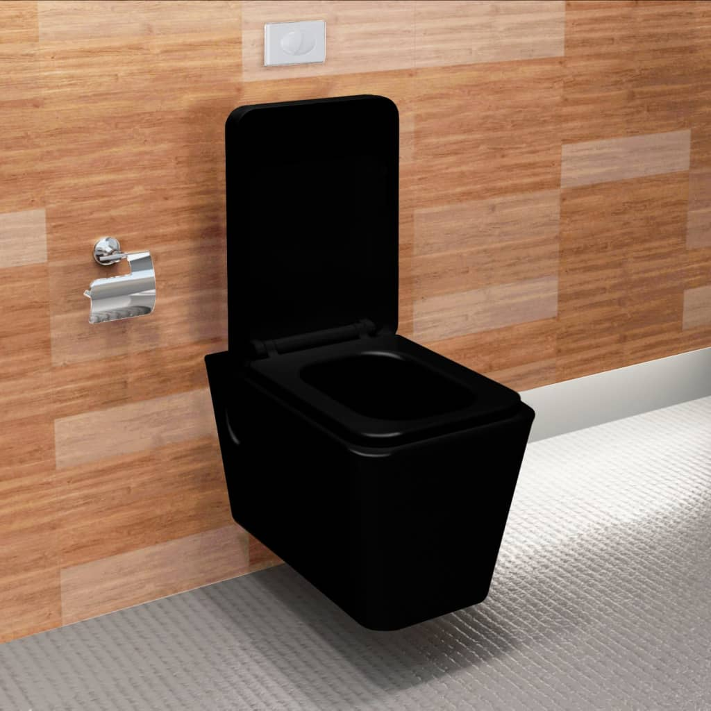 design wand h nge wc toilette set soft close schwarz inkl sp lkasten 160754 s ebay. Black Bedroom Furniture Sets. Home Design Ideas