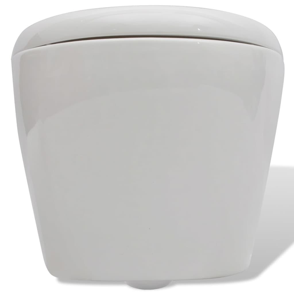 der wand h nge wc toilette set edle design wei inkl. Black Bedroom Furniture Sets. Home Design Ideas
