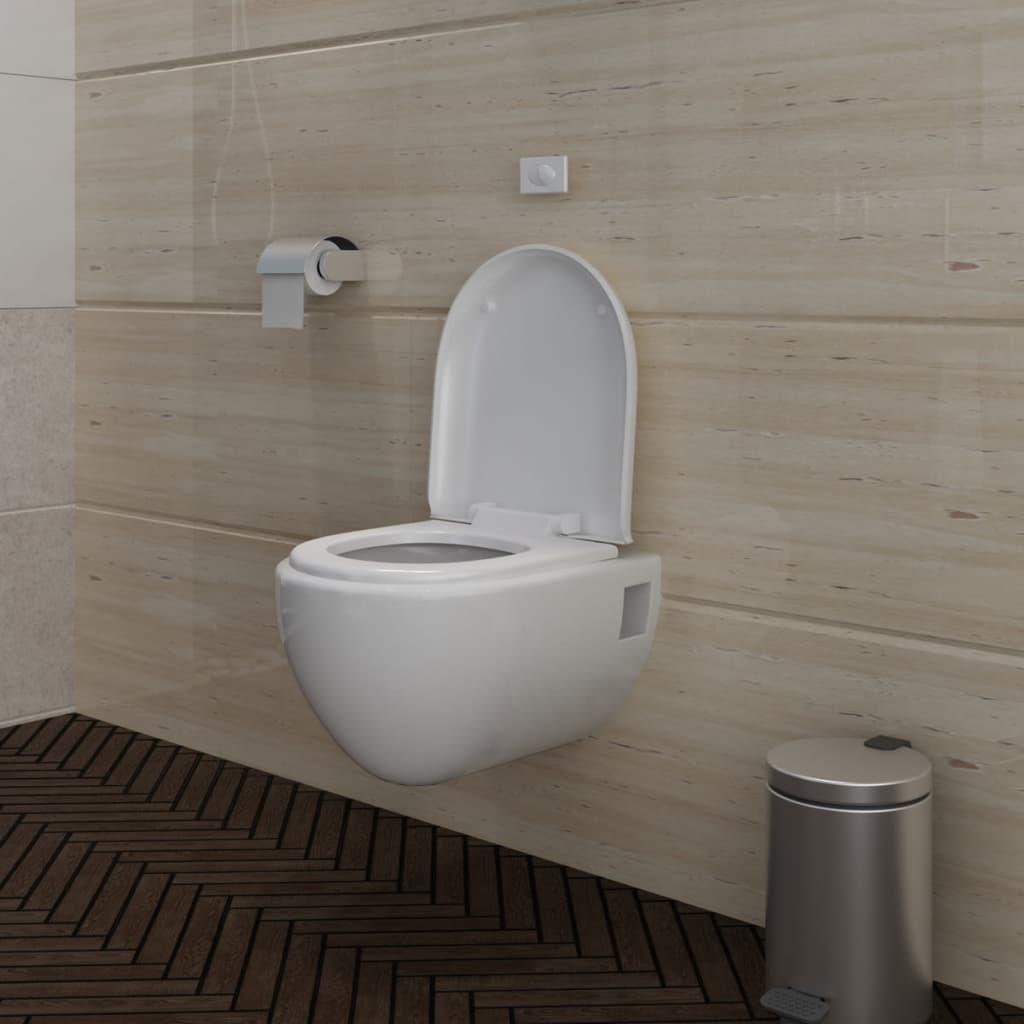 New Wall Mounted Toilet Set Unique Design White