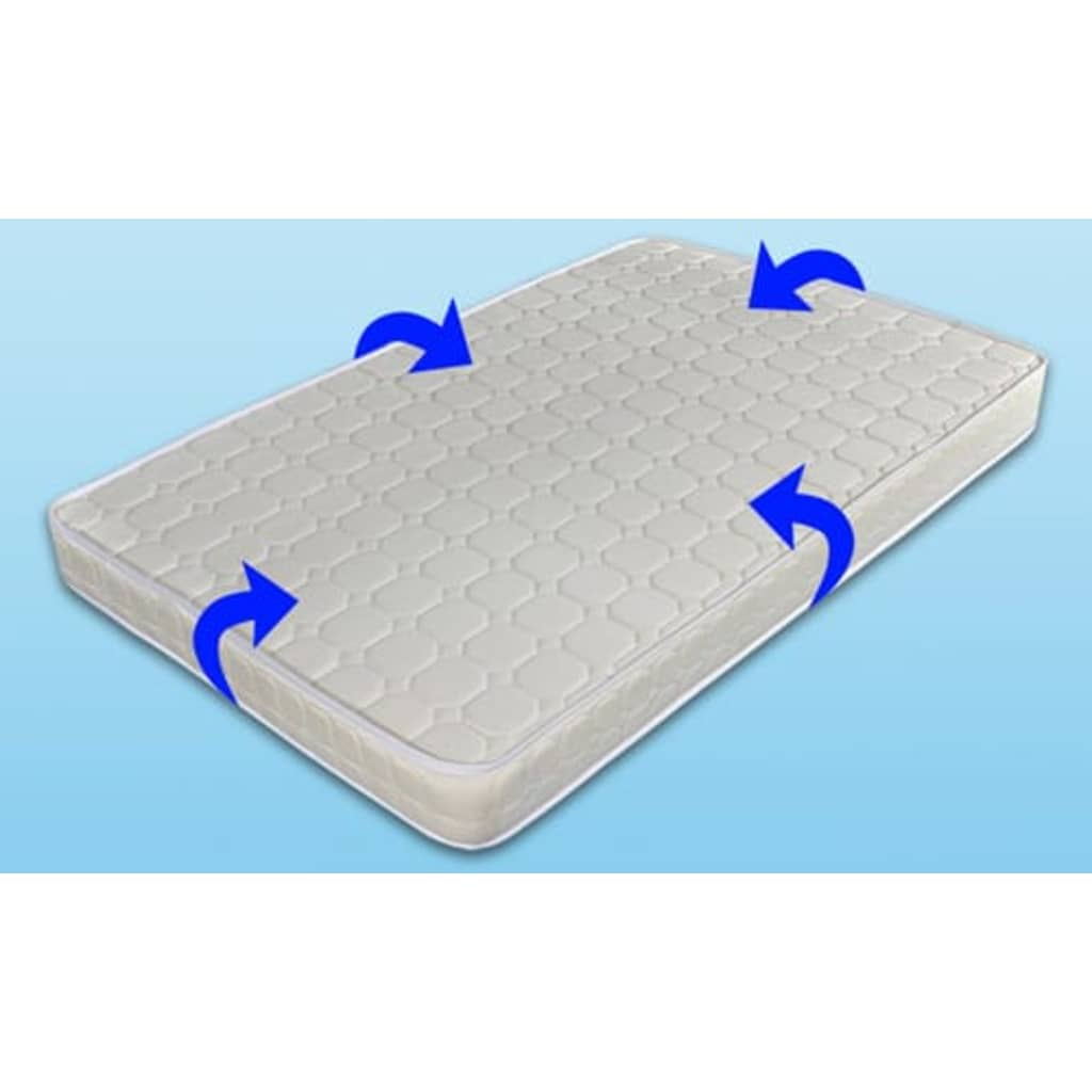 acheter lit en cuir 180 200 cm blanc led et matelas pas cher. Black Bedroom Furniture Sets. Home Design Ideas