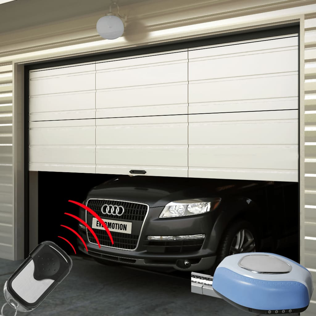 1024 #3E618D VidaXL.co.uk Garage Door Electric Door Opener & Set Of 2 Remote  wallpaper Garage Doors Electric Opening 36051024