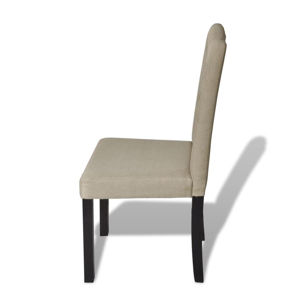 silla de comedor cl sica vintage de color beige 6