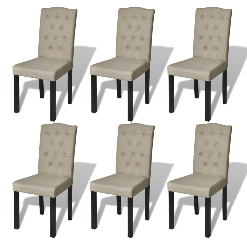 la boutique en ligne lot de 6 chaises de salle manger salon beige. Black Bedroom Furniture Sets. Home Design Ideas