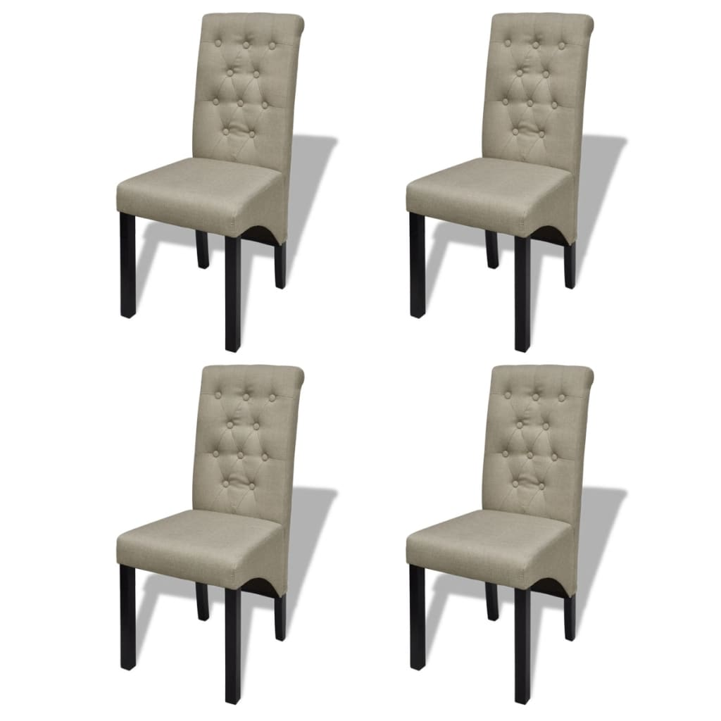 la boutique en ligne lot de 4 chaises de salle manger salon beige antique. Black Bedroom Furniture Sets. Home Design Ideas