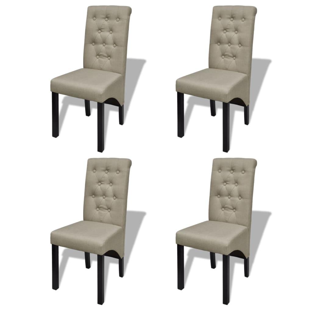 acheter lot de 4 chaises de salle manger salon beige antique pas cher. Black Bedroom Furniture Sets. Home Design Ideas