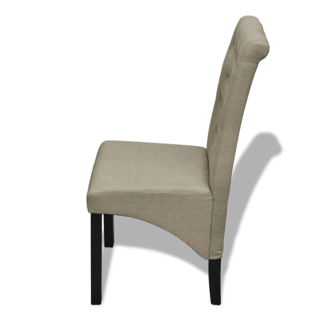 acheter lot de 6 chaises de salle manger salon beige. Black Bedroom Furniture Sets. Home Design Ideas