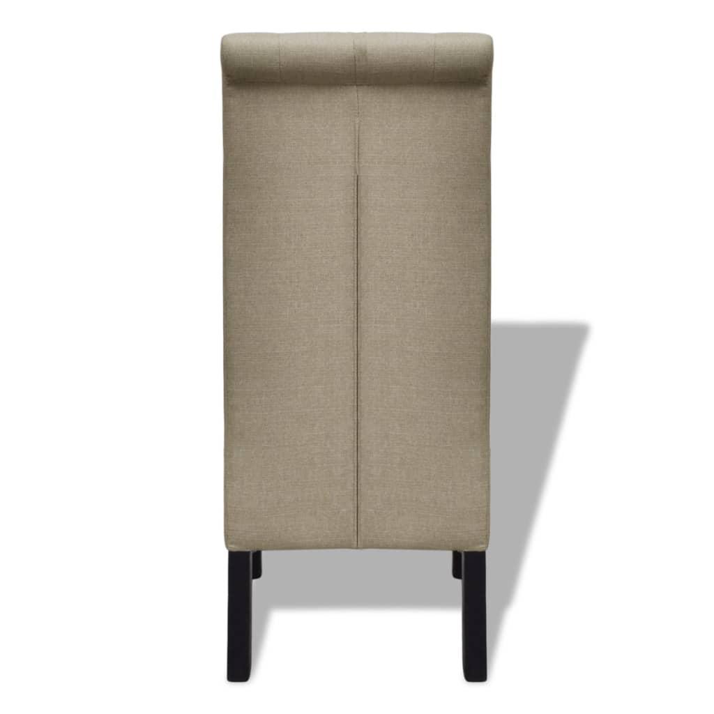 Acheter lot de 6 chaises de salle manger salon beige antique pas cher - Chaise beige salle a manger ...