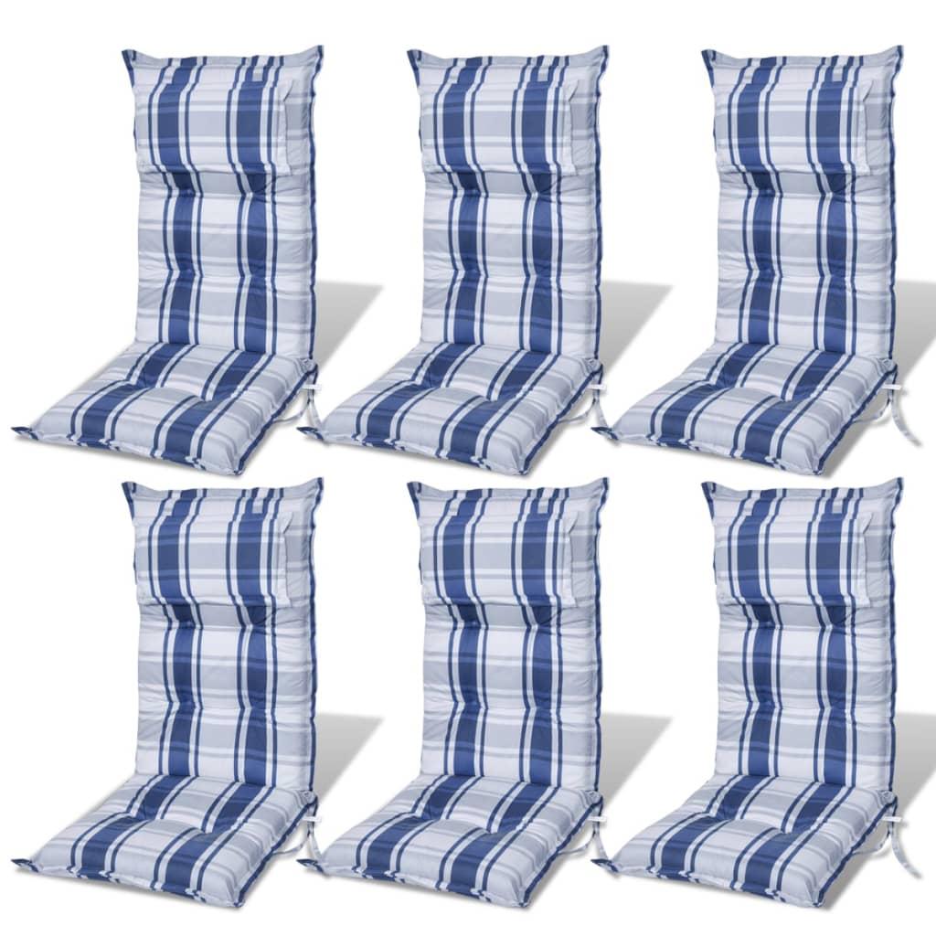 6 piezas coj n de silla de jard n azul espesor de 8 cm for Jardin azul canal 9