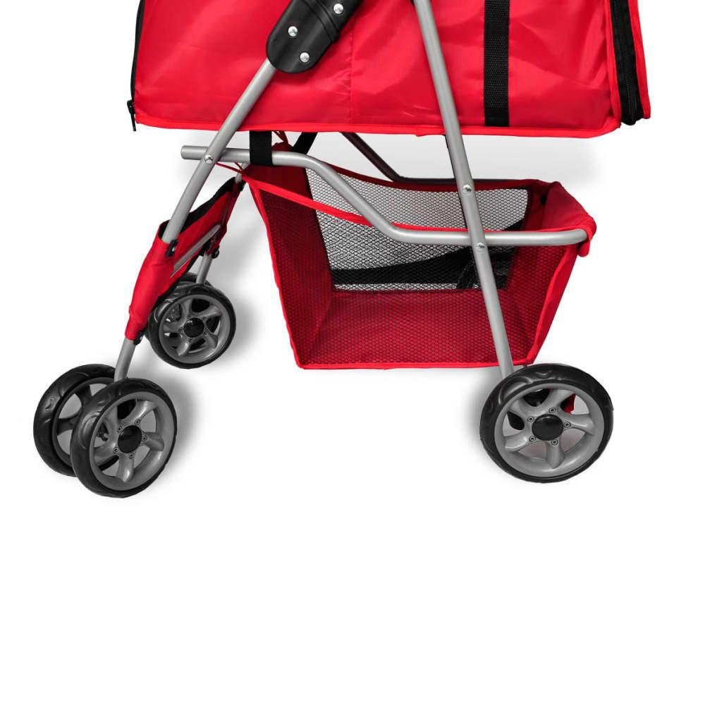 vidaXL.co.uk | New red folding pet stroller dog/cat Travel ...