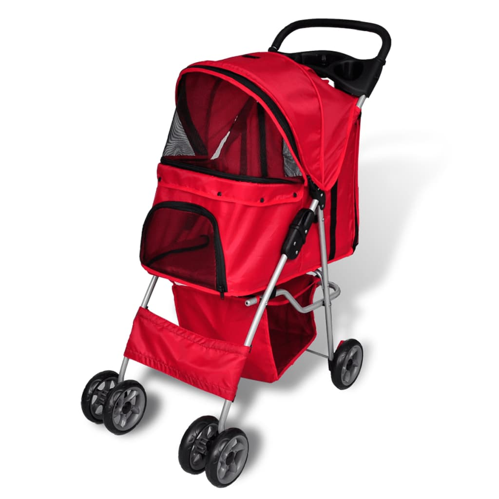 hundewagen hundebuggy hunde buggy pet stroller rot g nstig kaufen. Black Bedroom Furniture Sets. Home Design Ideas
