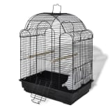 Bird Cage Black 2 Plastic feeding cups