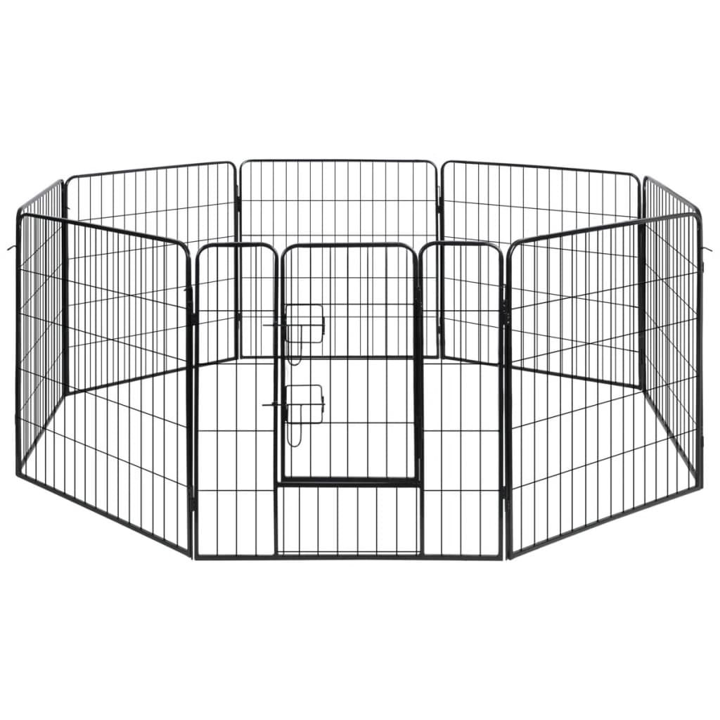 vidaXL Dog Playpen Crate Fence Puppy and Pet Exercise Cag...
