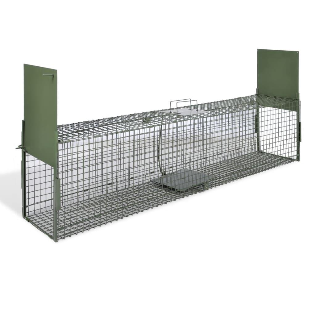 vidaXL Élve-fogó 2 ajtós csapda 150 x 30 cm