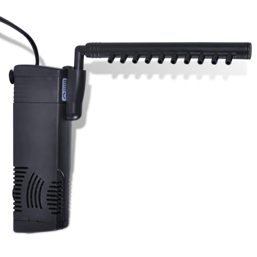 Acheter filtre interne aquarium avec pompe 300 l h for Pompe aquarium rond
