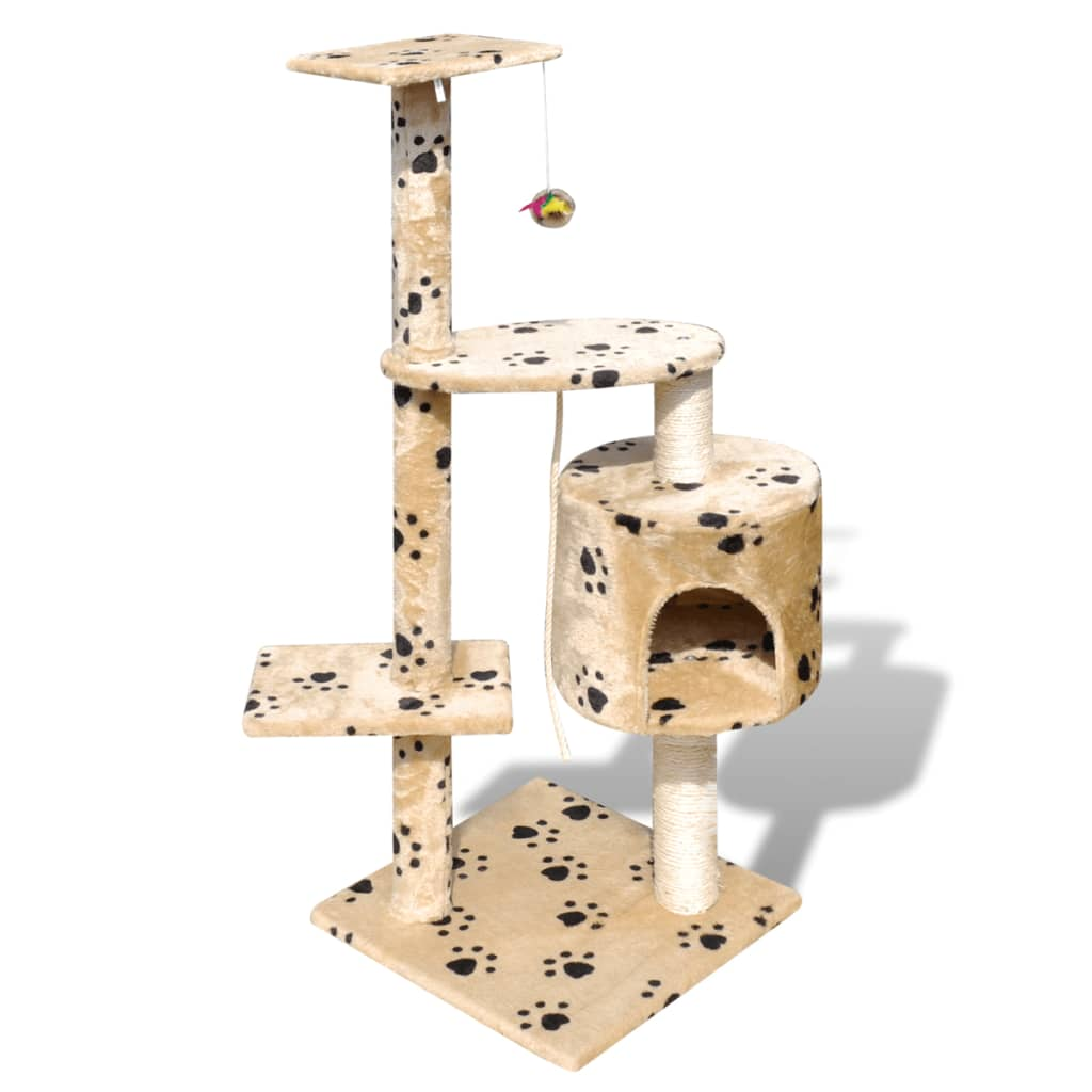 vidaxl-cat-tree-scratching-post-114-cm-1-condo-beige-with-pawprints