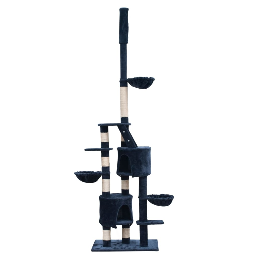 vidaXL Cat Play Tree Cuddles XL 230 – 260 cm Dark Blue Plush
