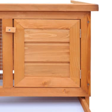 Outdoor Rabbit Hutch Small Animal House Pet Cage 1 Layer Wood[3/6]