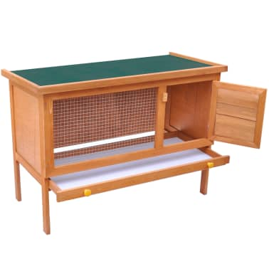 Outdoor Rabbit Hutch Small Animal House Pet Cage 1 Layer Wood[2/6]