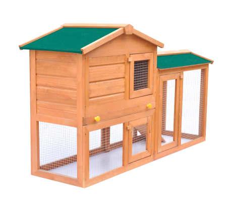 grande cage clapier ext rieur en bois pour lapins. Black Bedroom Furniture Sets. Home Design Ideas