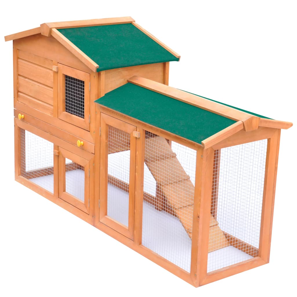 Outdoor large rabbit hutch small animal house pet cage for Cage lapin exterieur