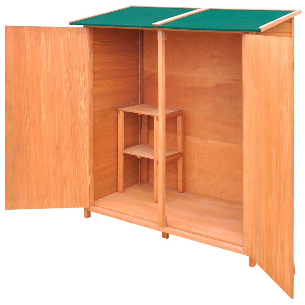cobertizo de madera para el almacenamiento de herramientas