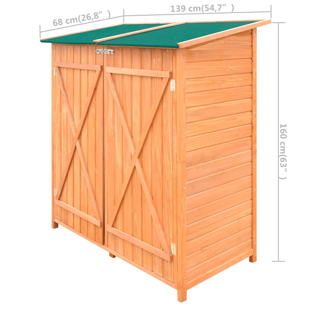 Wooden shed garden tool shed storage room large for Outdoor tool shed