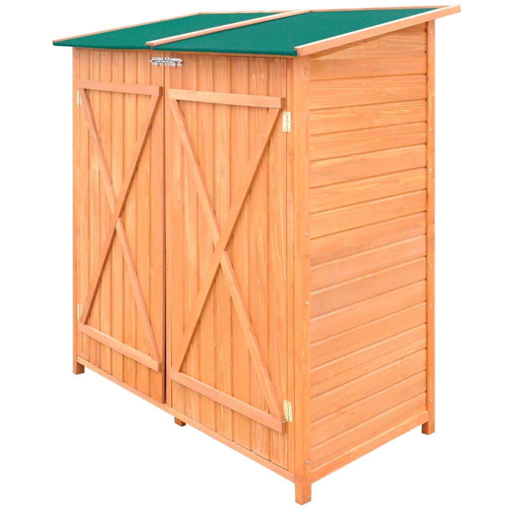 Cobertizo de madera para el almacenamiento de herramientas for Cobertizo para exteriores