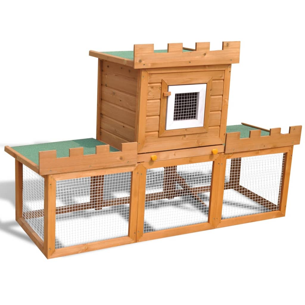Outdoor large rabbit hutch house pet cage for Cage lapin exterieur