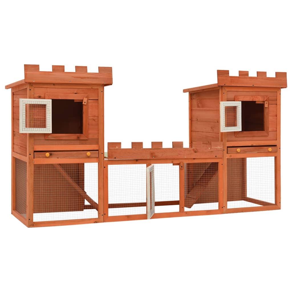 Acheter grande cage clapier ext rieur pour lapins en bois for Exterieur lapin