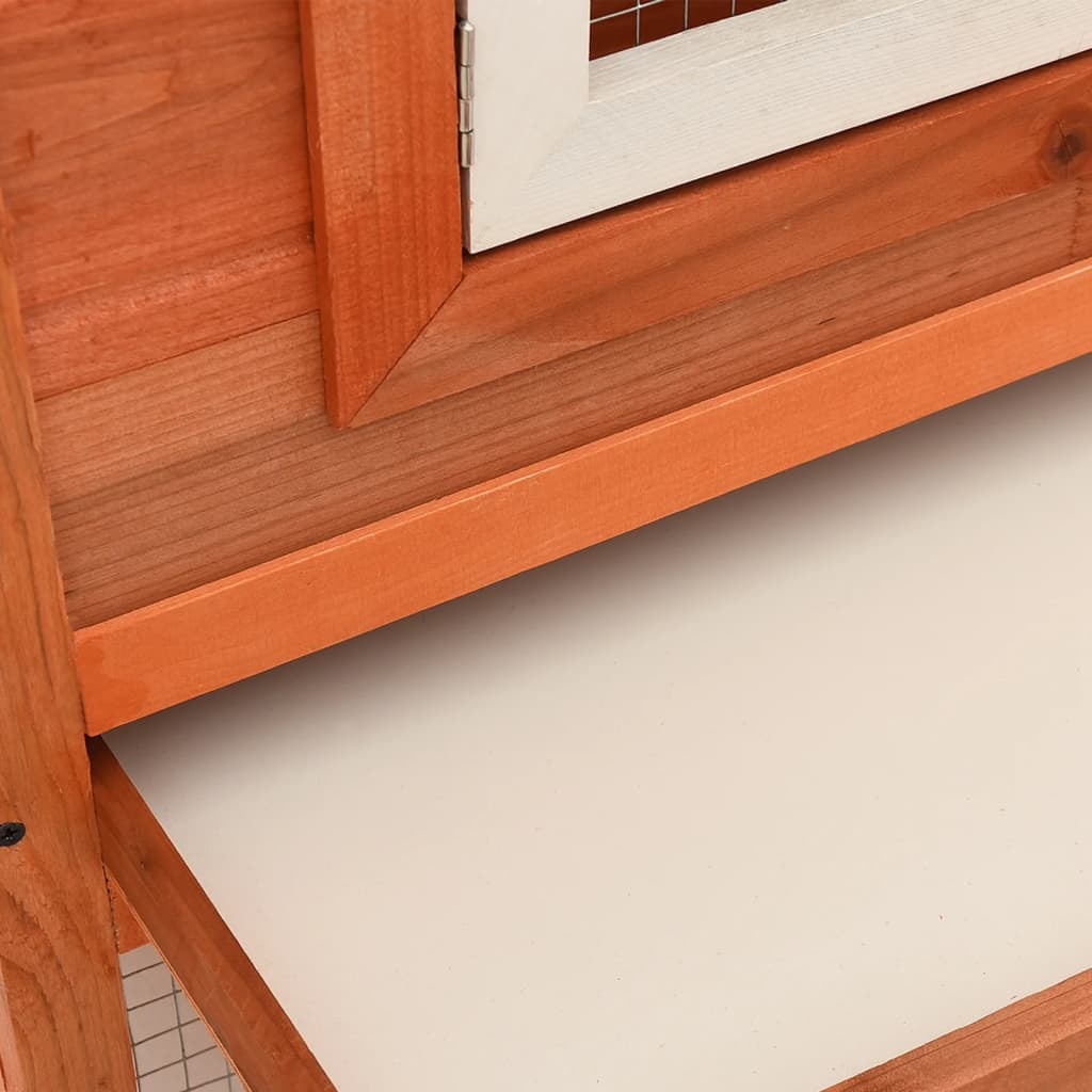 Outdoor large rabbit hutch house pet cage double house for Outdoor bunny hutch
